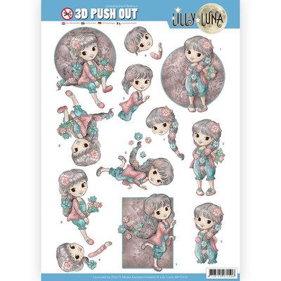 SB10420 3D uitdrukvel - Lilly Luna - Bloemen om lief te hebben