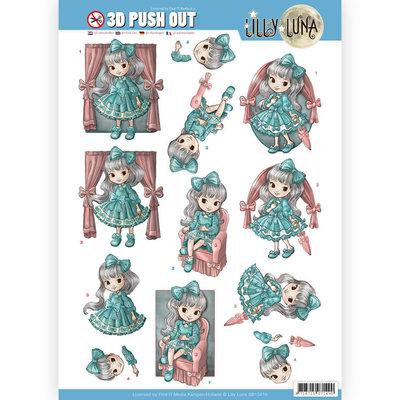 SB10419 3D uitdrukvel - Lilly Luna - Mooie strikken