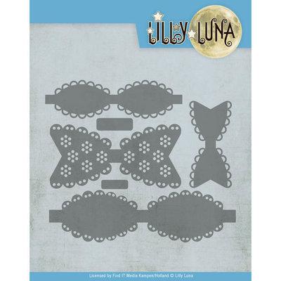 LL10007 Snijmal - Lilly Luna - Romantische strikken