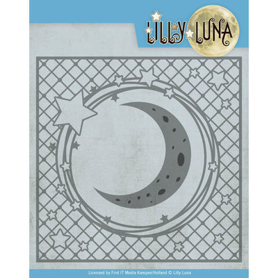 LL10005 Snijmal- Lilly Luna - Stars and Moon Frame