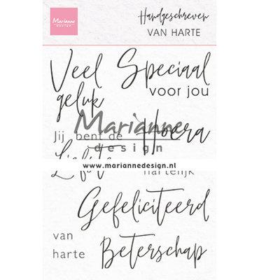 Clear stamp - Handgeschreven - van Harte CS1049