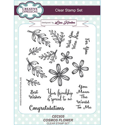 Creative Expression - Clear stamp set  -Cosmos Flower CEC935