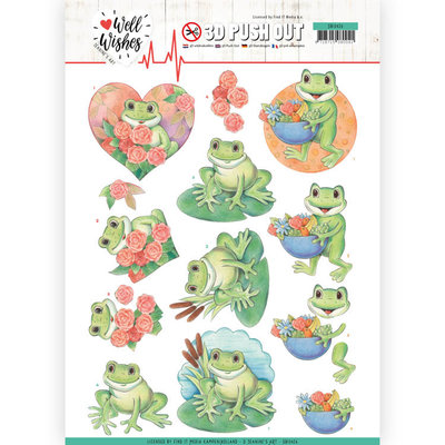 SB10426 3D Pushout - Jeanine's Art - Well Wishes - Frogs