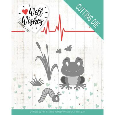 JAD10094 Dies - Jeanine's Art - Well Wishes - Smiling Frog