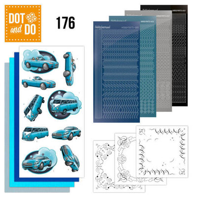 DODO176 Dot and Do 176 - Yvonne Creations - Cars in Blue