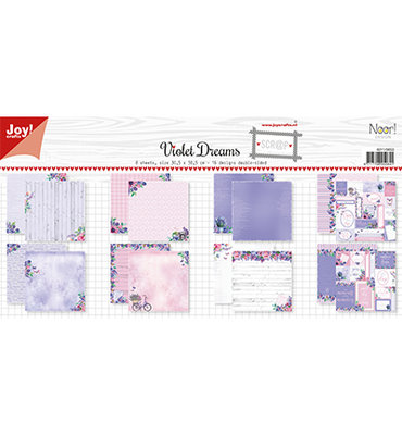 6011/0653 Papierset-Noor- Design Violet Dreams