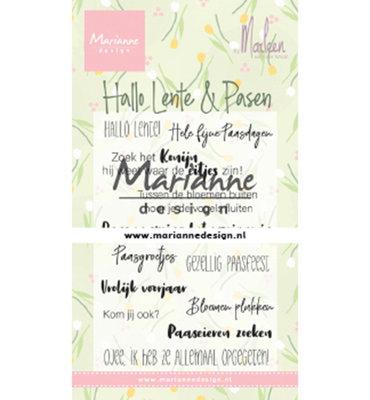 Clear stamp - Handgeschreven - Marleen's Hallo Lente & Pasen CS1043