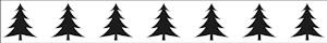 Border embossing - Xmas tree  - BOF002