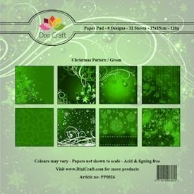Dixi paper pack christmas green (pp0026)