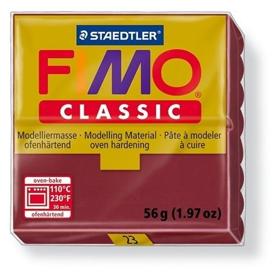 Fimo classic boetseerklei 56 g Bordeau