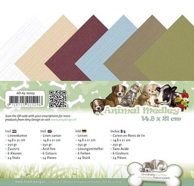 Animal medley Linnenpaket A5