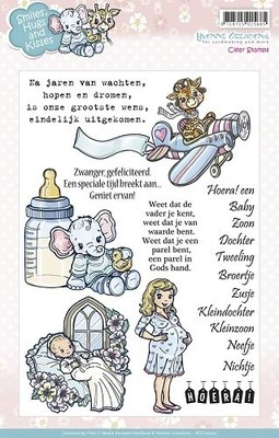 smiles huggs and Kisses - clear stamp