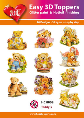 Easy 3d toppers, Teddy beren  HC 8009