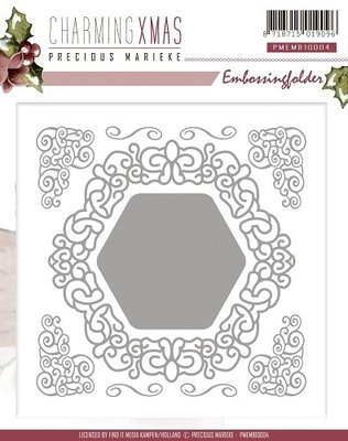 Precious marieke, CharmingXmas , embossing folder