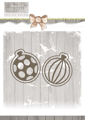 Rustic Christmas -Bauble set - PM10043