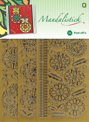 JeJe - Mandalistick Peel-off`s - Christmas Baubles 3-pack - Goud