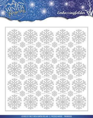 Precious marieke, Winter wonderland , embossing folder