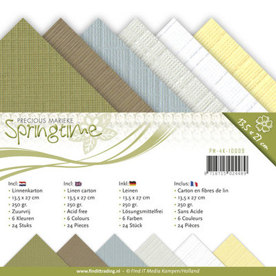 Precious marieke - Springtime,  Linnenpakket vierkante kaart