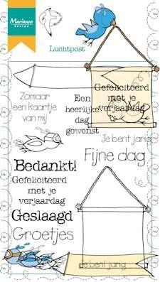 Marianne design, Clear Stamp Luchtpost