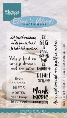 Marianne design, Clear Stamp Eline's mindfulness de reis
