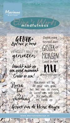 Marianne design, Clear Stamp Eline's mindfulness geluk
