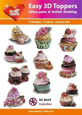 Easy 3d toppers, Cupcakes