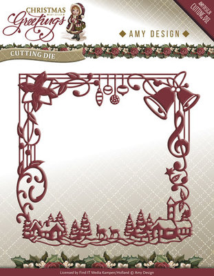 Christmas Greetings -  frame - ADD10065