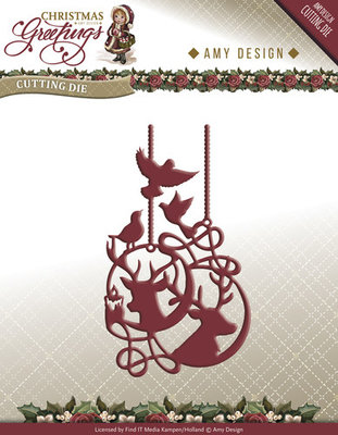 Christmas Greetings -  Reindeer Ornament - ADD10069