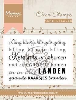 Marianne design, Clear Stamp kerstlied Kling klokje