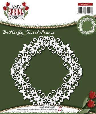 Spring - Butterfly Swirl Frame
