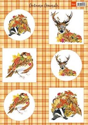 Marianne design, knipvel herfst dieren - hert vk9545