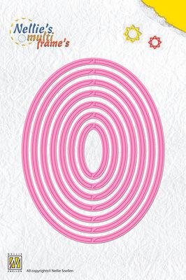 Nellies - Multi Frame Dies - Revolving oval