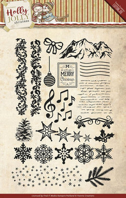 Holly Jolly - Clearstamp