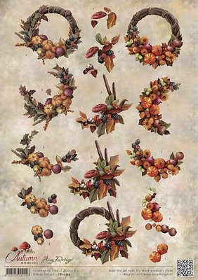 3D Knipvel - Amy Design - Autumn Moments - Herfstkransen - cd10754