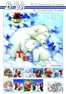 3-D Boek  kerst A5 boekje