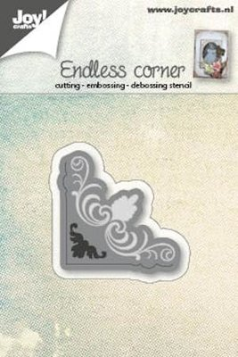 Joy Crafts - Joy! stencil hoekje endless sier 6002/0567