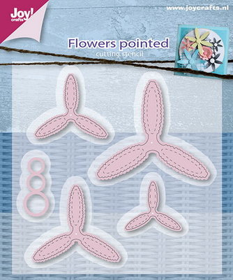 Joy Crafts - Joy! stencil - Mery's bloemen puntig (5) 6002/0596