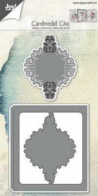 Joy Crafts - Joy! stencil kaartmodel sierlijk  6002/0600