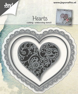 Joy Crafts - Joy! stencil hart (3)  6002/0642
