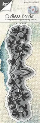 Joy Crafts - Joy! stencil eindeloze rand met blaadjes  6002/0643
