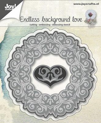 Joy Crafts - Joy! stencil achtergrond met hart  6002/0644