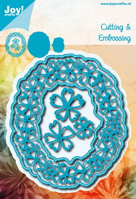Joy Crafts - Joy! stencil ovaal met bloemen  6002/0632