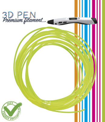 3D Pen filament - 5M - geel fluor