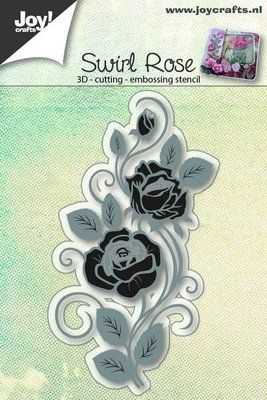 Joy Crafts - Joy! stencil 3D roos swirl  6002/0652