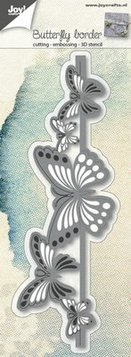 Joy Crafts - Joy! stencil 3D rand vlinders  6002/0689