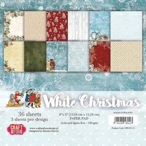 Small paper pad 6x6 White Christmas