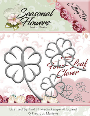 Seasonal Flower -  Die - Four Leaf Clover pm1088