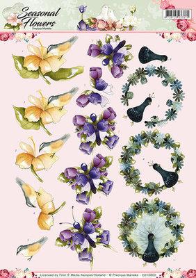 3D Knipvel - Precious Marieke - Seasonal Flowers - Flora en Fauna