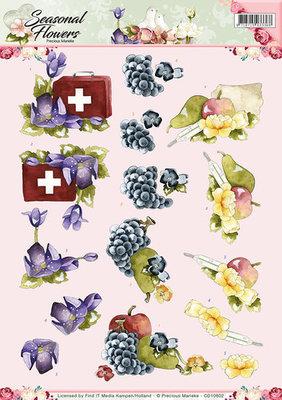 3D Knipvel - Precious Marieke - Seasonal Flowers - Beterschap