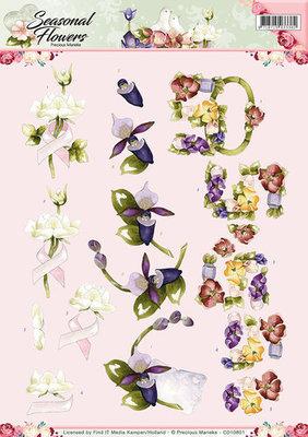 3D Knipvel - Precious Marieke - Seasonal Flowers - Felicitatie